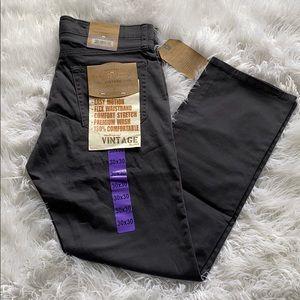 New men's weatherproof vintage charcoal pants.